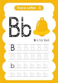 Bell trace-lijnen oefenwerkblad voor schrijven en tekenen voor kinderen