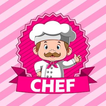 Beloning voor chef-kok met roze banner