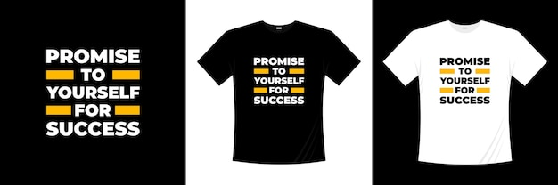 Beloof jezelf voor succestypografie. motivatie, inspiratie t-shirt.