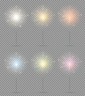 Bengaalse lights set. geïsoleerd kerststerretje