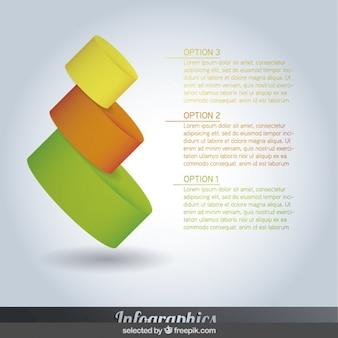 Bent piramidale infographics stappen