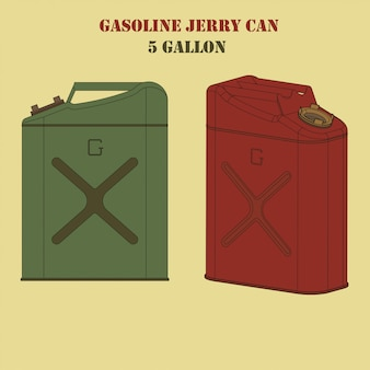 Benzine jerrycan