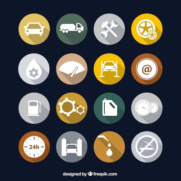 Benzinestation pictogrammen