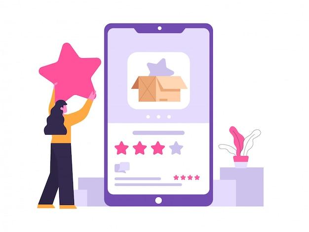 Beoordeling en feedback concept illustratie