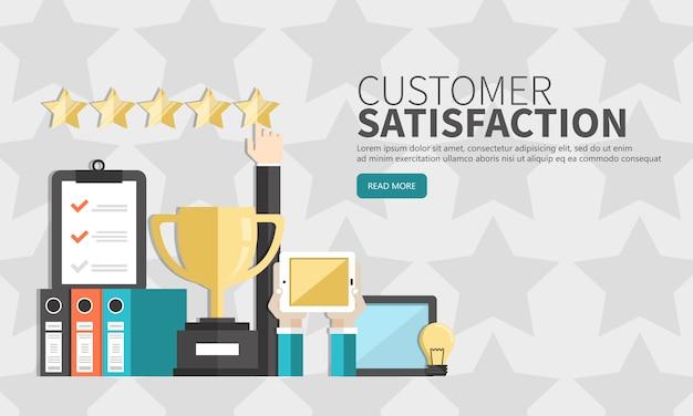 Beoordeling op klantenservice illustratie