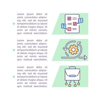 Beoordeling uplift concept pictogram met tekst.