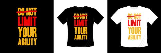 Beperk je t-shirtontwerp met typografie niet