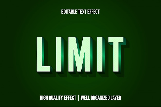 Beperk moderne teksteffectstijl