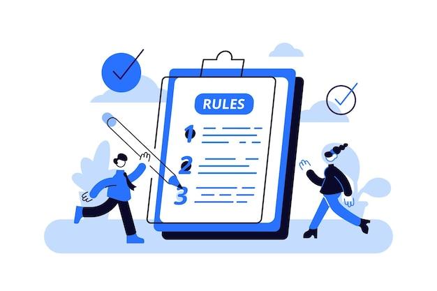Beperkt grafisch schrijven met juridische informatie.