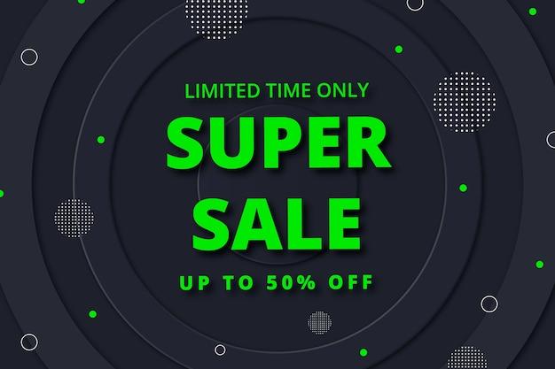Beperkte tijd super verkoop donkere achtergrond