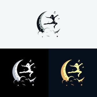 Bereik dreams-logo met maansymbool