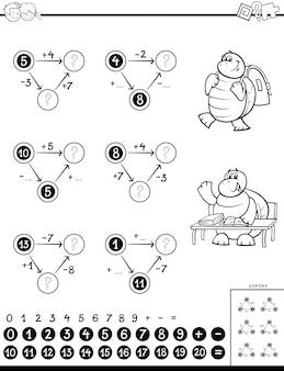 Berekening educatief spel voor kinderen kleurenboek