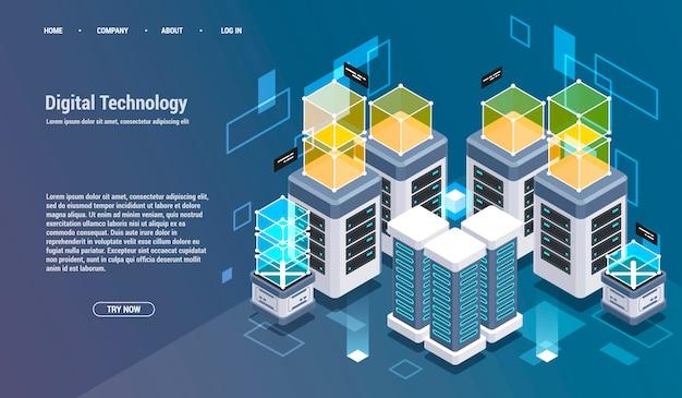 Berekening van big data center, informatieverwerking, database.