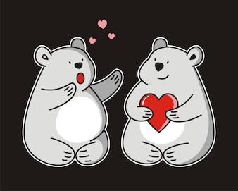 Beren met hart