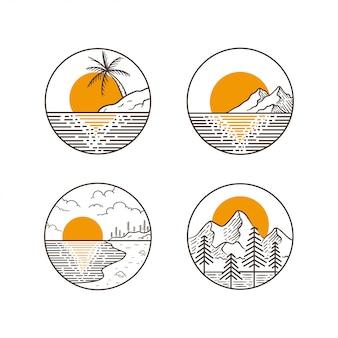Berg avontuur ontwerp