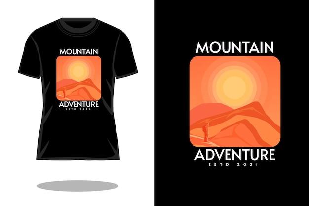 Berg avontuur silhouet t-shirt ontwerp