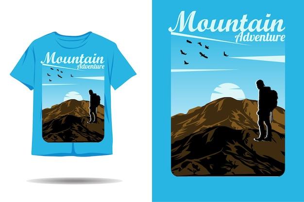 Berg avontuur silhouet tshirt ontwerp