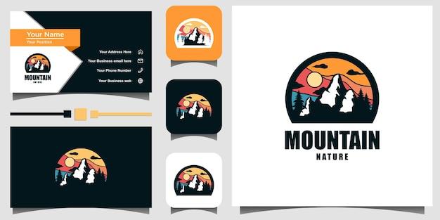 Berg logo embleem ontwerp vector sjabloon visitekaartje