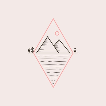 Berg logo ontwerp vectorillustratie