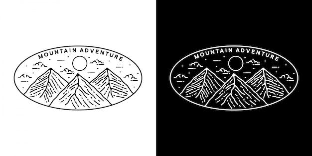 Berg monoline vintage buiten