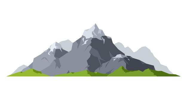 Berg silhouet buiten sneeuw ijs toppen. camping landschap reizen klimmen of wandelen berg