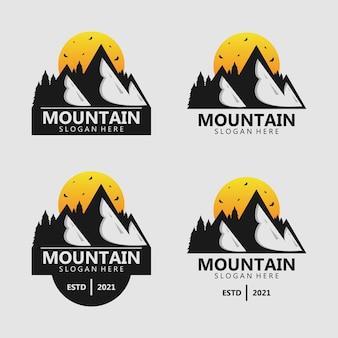 Berg silhouet logo ontwerp vector