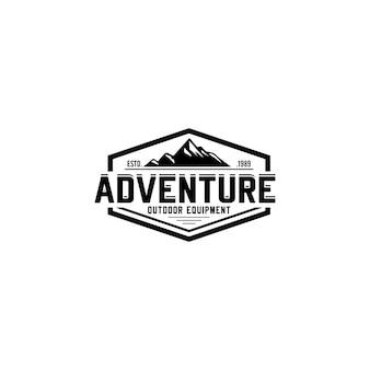 Berg vintage logo sjabloon