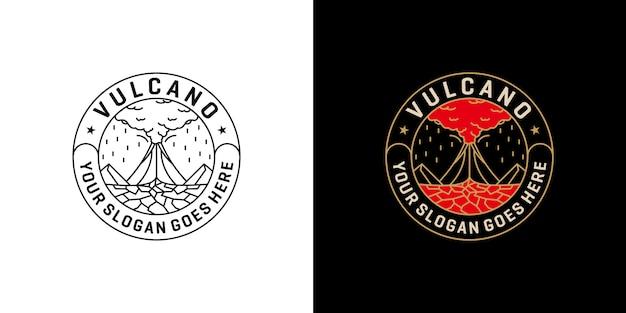Berg vulcano monoline, badge