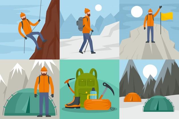 Bergbeklimmen rijden