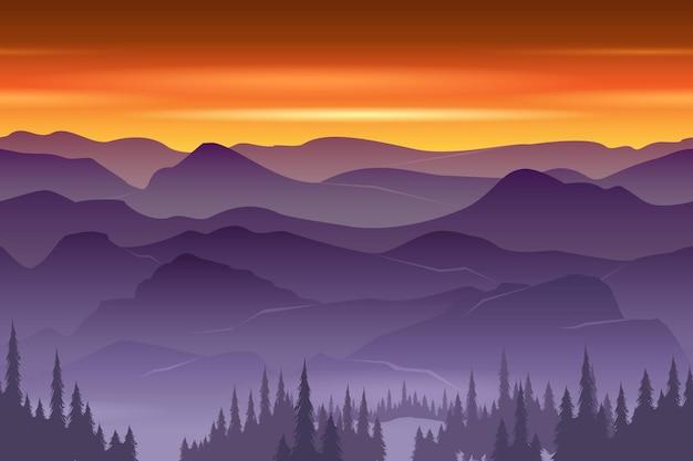 Bergen naadloze pagina. natuur landschap.