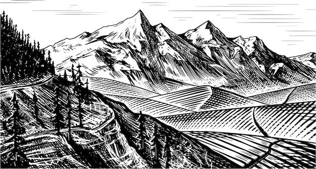 Berglandschap achtergrond