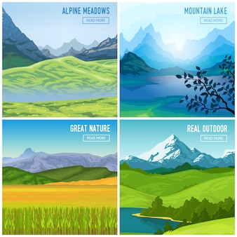Berglandschap composities instellen