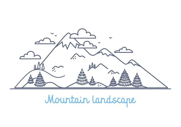 Berglandschap lineair