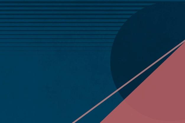 Berglandschap minimalistische esthetiek vector met saaie kleuren