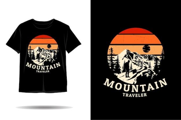 Bergreiziger silhouet tshirt ontwerp