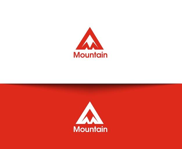 Bergwebpictogrammen en vectorlogo