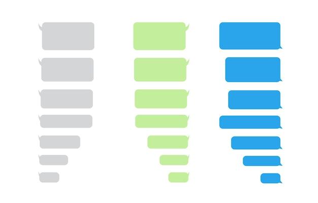 Bericht bubbels chat icoon op witte achtergrond sjabloon voor messenger chatbox