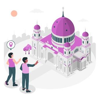 Berlijn concept illustratie