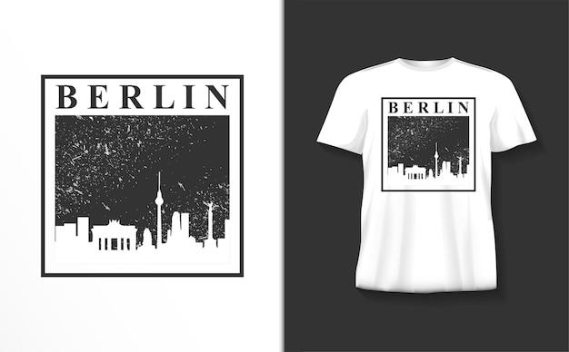Berlijn typografie tshirt