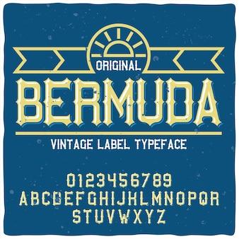 Bermuda lettertype