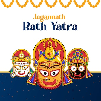Beroemd jagannath rath yatra-bannerontwerp