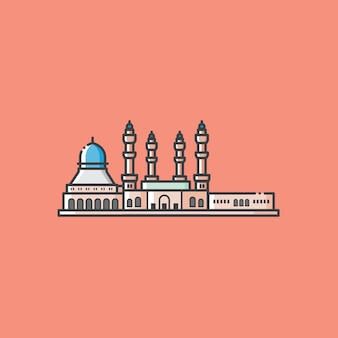 Beroemd moskeegebouw en toeristisch oriëntatiepunt in kota kinabalu sabah malaysia
