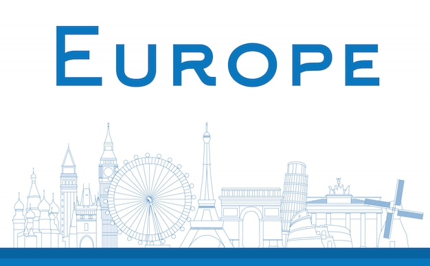Beroemde bezienswaardigheden in europa