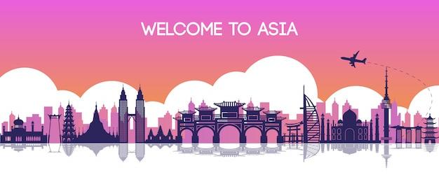 Beroemde bezienswaardigheid van azië