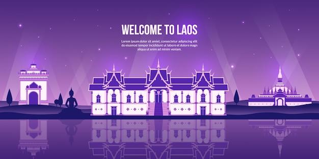 Beroemde bezienswaardigheid van laos.