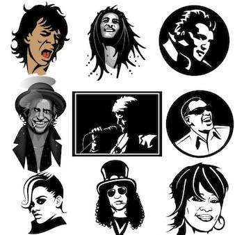 Beroemde musici portretteninzameling