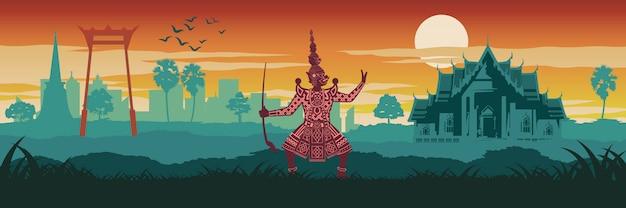 Beroemde top en symbool van thailand
