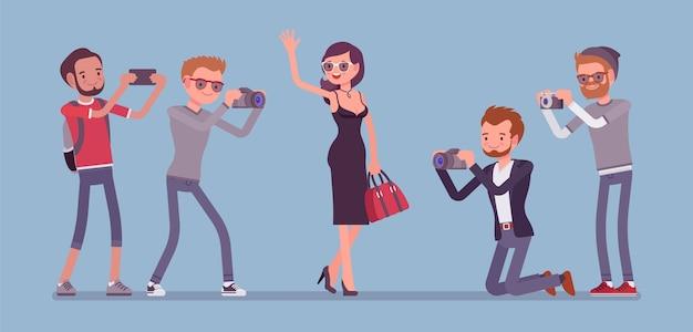 Beroemdheden en journalisten