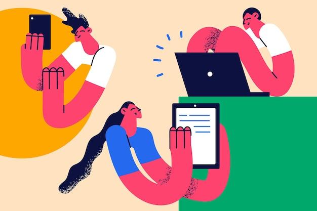 Beroep baan en werk concept