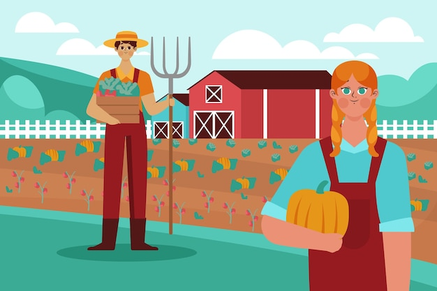 Beroep van de biologische platte landbouw